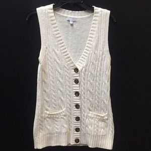 NWNT White Gap Button Down Sweater Vest.
